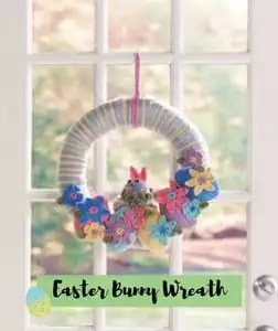 Easter Bunny Wreath Easter Pattern