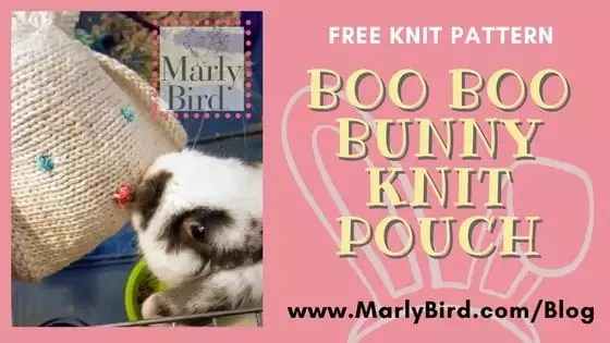 FREE Knit Pattern-Boo Boo Bunny Knit Pouch
