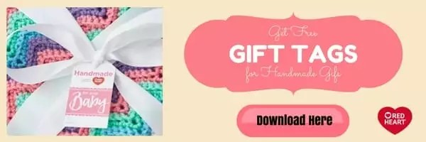 Download your FREE Gift Tags for Handmade Gifts from Red Heart