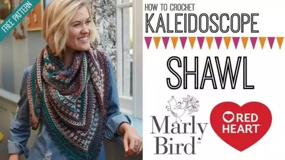 Video Tutorial How to Crochet the FREE Kaleidoscope Crochet Shawl pattern