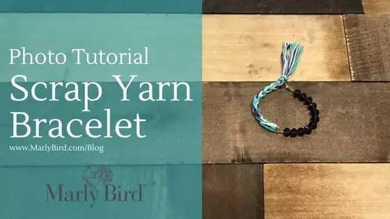 Photo Tutorial how to make a Scrap Yarn Bracelet