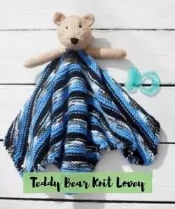 Teddy Bear Knit Lovey