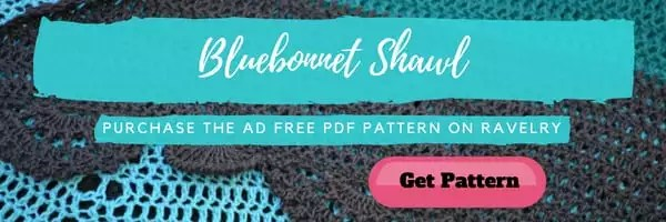 Ad Free Version of the Bluebonnet Crochet Shawl