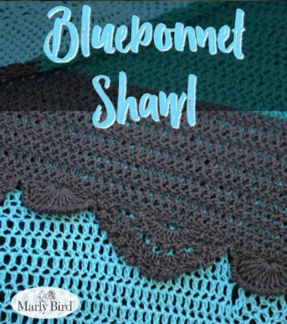 FULL CHARTS are included in the Ad Free PDF! Available for only $3.99 Bluebonnet Shawl