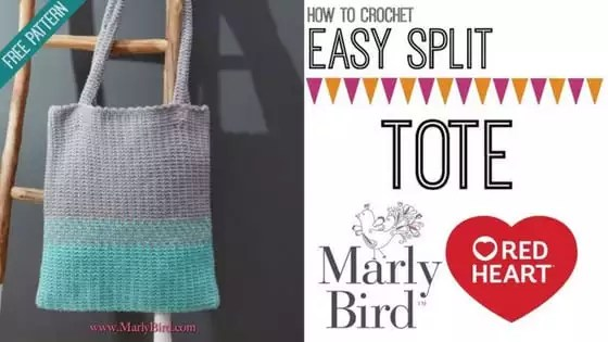 Video Tutorial-How to Crochet the Easy Split Crochet Tote