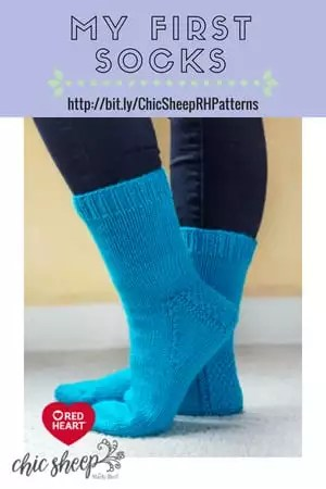 My First Socks-FREE Knit Pattern with Chic Sheep by Marly Bird