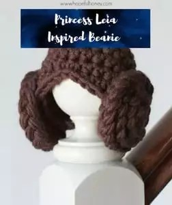 Princess Leia Inspired Beanie
