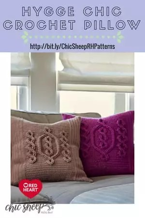 Chic Sheep by Marly Bird™ FREE Crochet Pattern-Hygge Chic Crochet Pillow