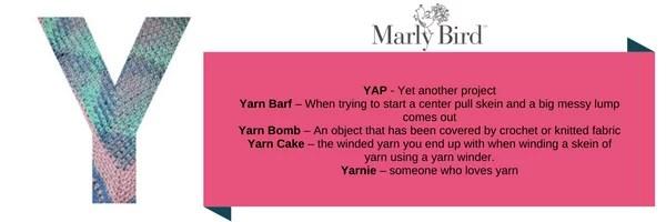 Crochet Slang Terms-Y
