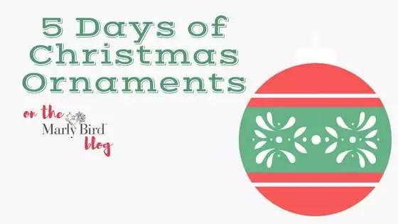 5 Days of FREE Yarn Scrap Christmas Ornaments