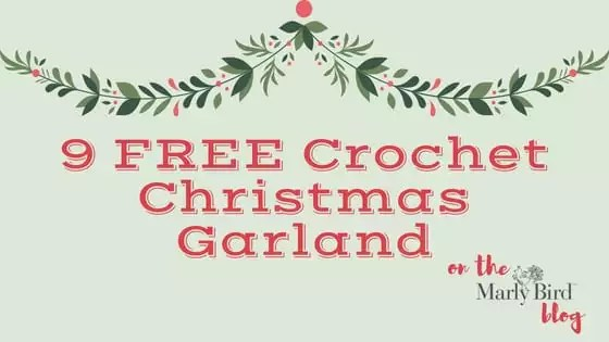 9 FREE Crochet Garland for Christmas