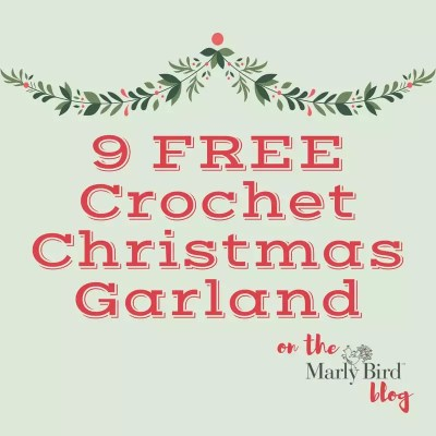 9 FREE Christmas Crochet Garland Projects
