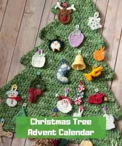 7 FREE Crochet Advent Calendars-Christmas Tree Advent Calendar