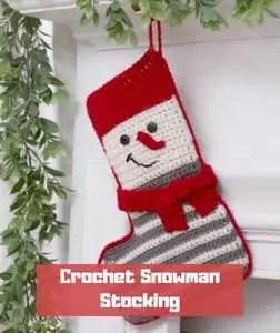 Crochet Snowman Stocking by Michele Wilcox