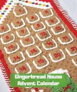 7 FREE Crochet Advent Calendars-Gingerbread House Advent Calendar