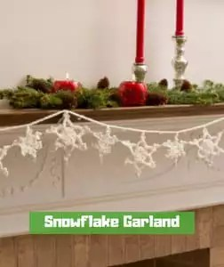 Snowflake Garland by Nancy Anderson
