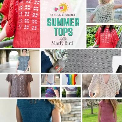 12 FREE Crochet Summer Tops