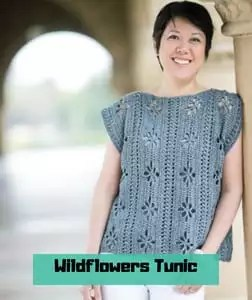Wildflowers Tunic FREE Crochet Pattern