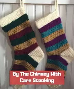 By the Chimney with Care Stocking by That Crafty Momma
