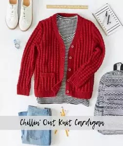 Chillin' Out Knit Cardigan-FREE Red Heart Pattern