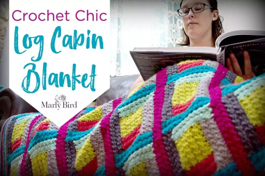 FREE Crochet Blanket Pattern-Crochet Log Cabin Blanket