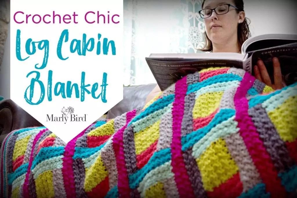 FREE Crochet Blanket Pattern-Crochet Log Cabin Blanket