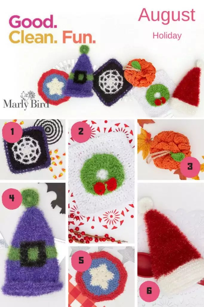 Red Heart Scrubby Patterns For The Holidays Marly Bird
