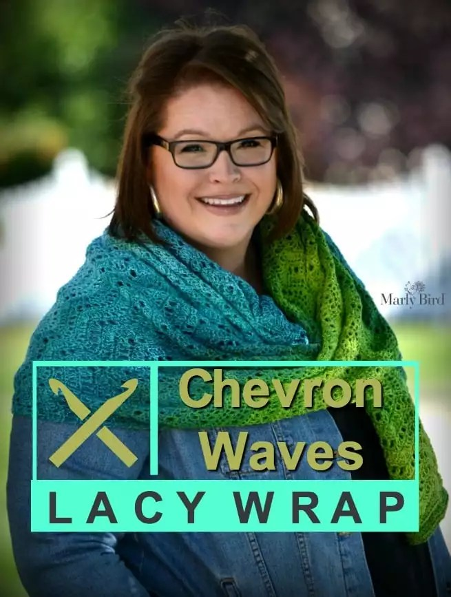 Chevron Waves Lacy Wrap by Marly Bird™ is a Free Crochet Pattern