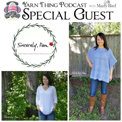 A Chat with Sincerely, Pam on the Yarn Thing Podcast