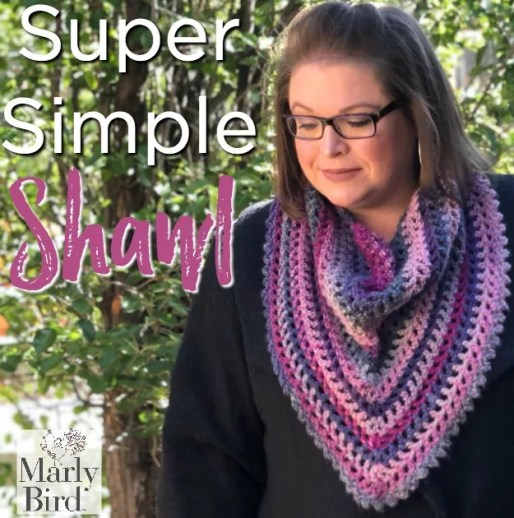 Super Simple Shawl by Marly Bird™ Free Pattern