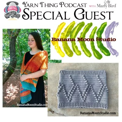 Banana Moon Studios shows off a new design on the Yarn Thing Podcast
