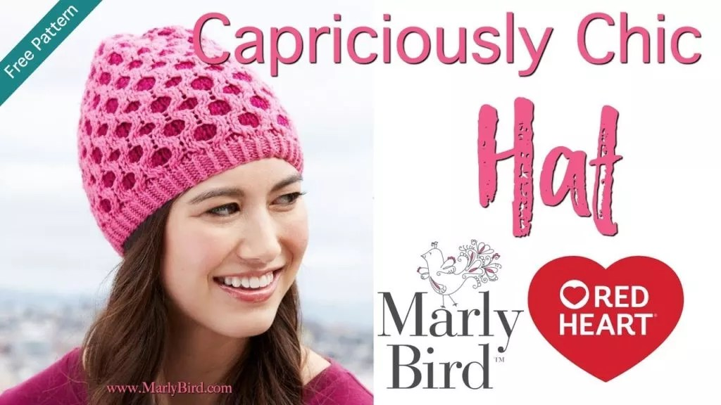 Video Tutorial with Marly Bird-How to knit the Capriciously Chic Hat