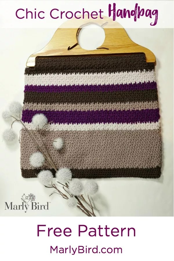 Chic Crochet Handbag With Wooden Handles Marly Bird