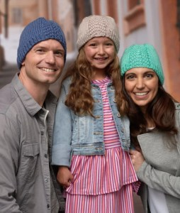 14 FREE Blue Hats Patterns-Herringbone Hat