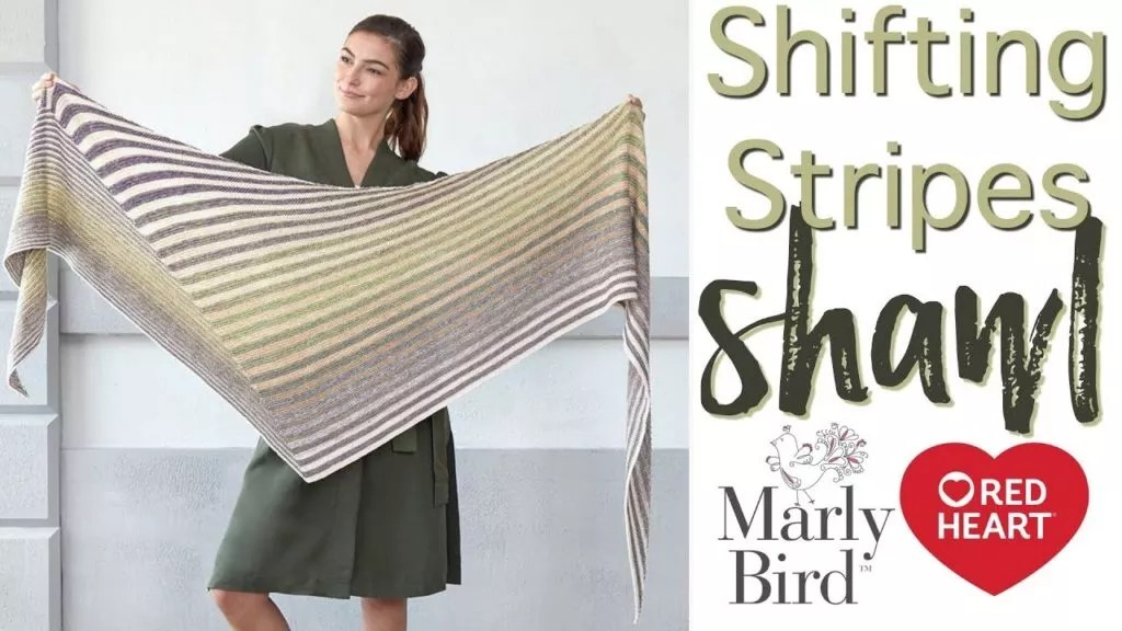 FREE Video Tutorial with Marly Bird-Learn to Knit the Shifting Stripes Shawl
