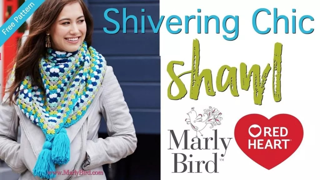 Video Tutorial-Shivering Chic Shawl-Granny Stitch Shawl-Crochet Shawl