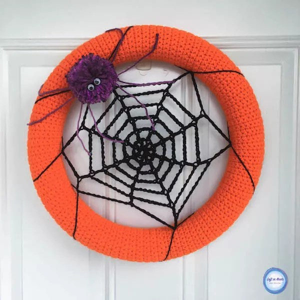 Spider Web Wreath Designed by Left in Knots