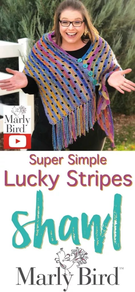 Super Simple Lucky Stripes Shawl - Marly Bird™