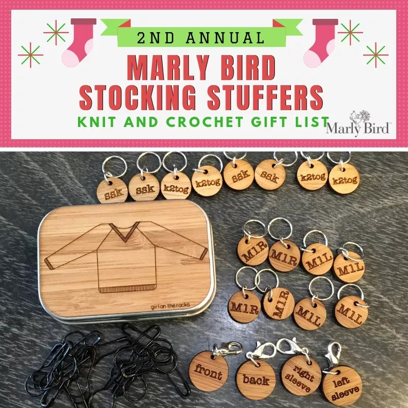 Knitting Stocking Stuffer-Girl on the Rocksl