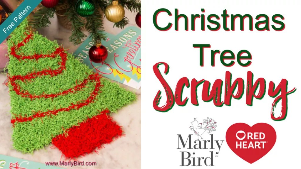 Video Tutorial for the FREE Knit Christmas Tree Scrubby Pattern
