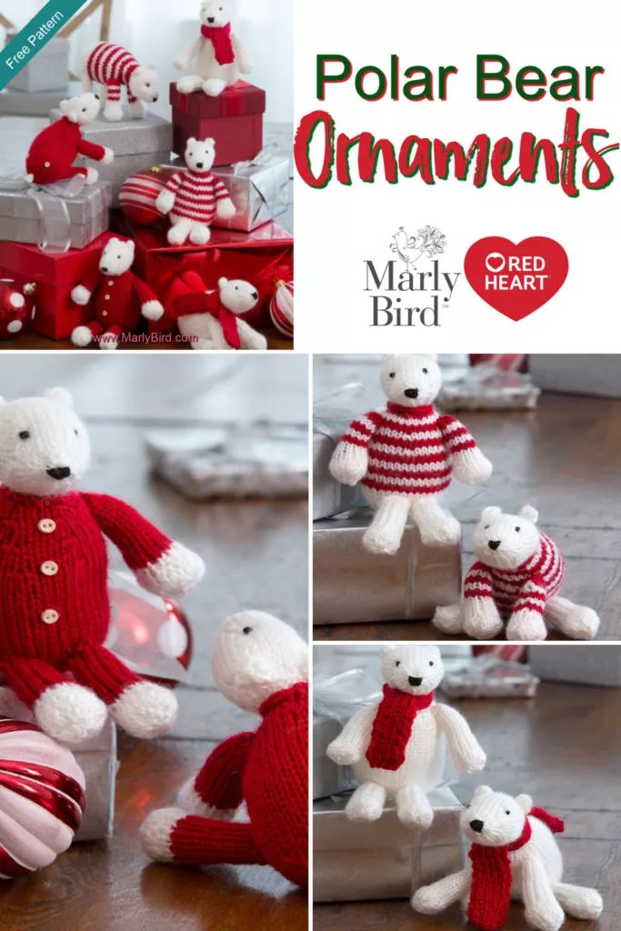 Video Tutorial for putting together the Knit Polar Bear Ornaments