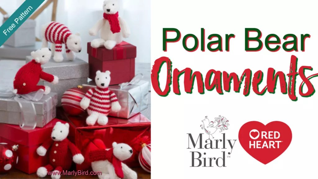 Video Tutorial-Knit Polar Bear Ornaments