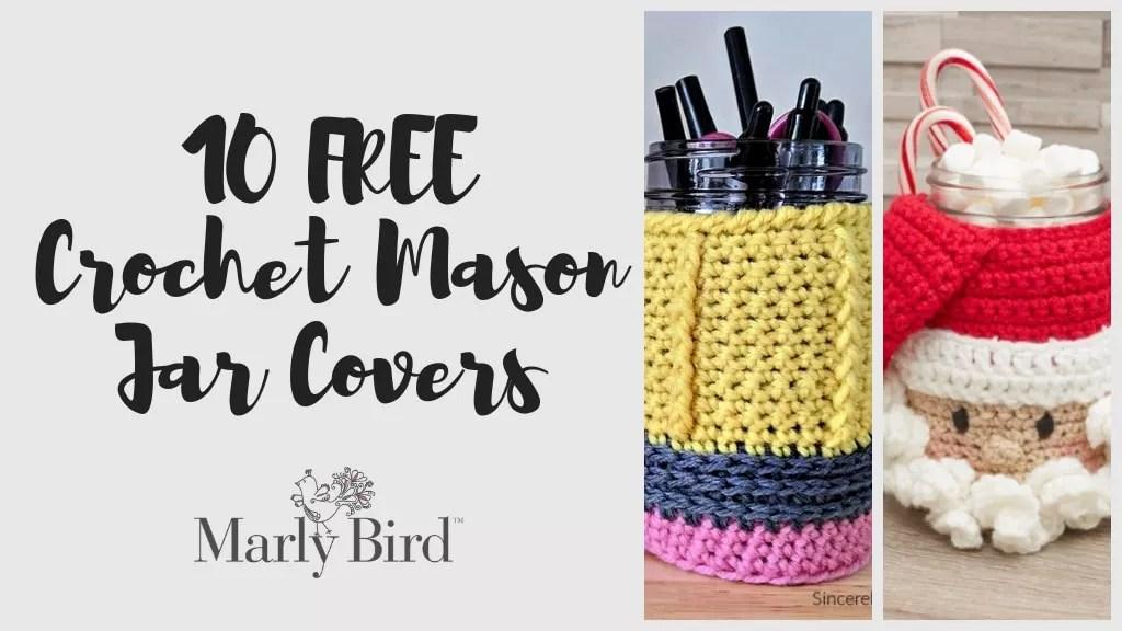 10 FREE Crochet Mason Jar Covers