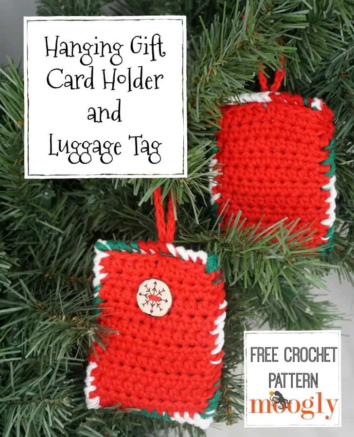 Crochet Gift Card Holder-Hanging Gift Card Holder and Luggage Tag Designed by Moogly
