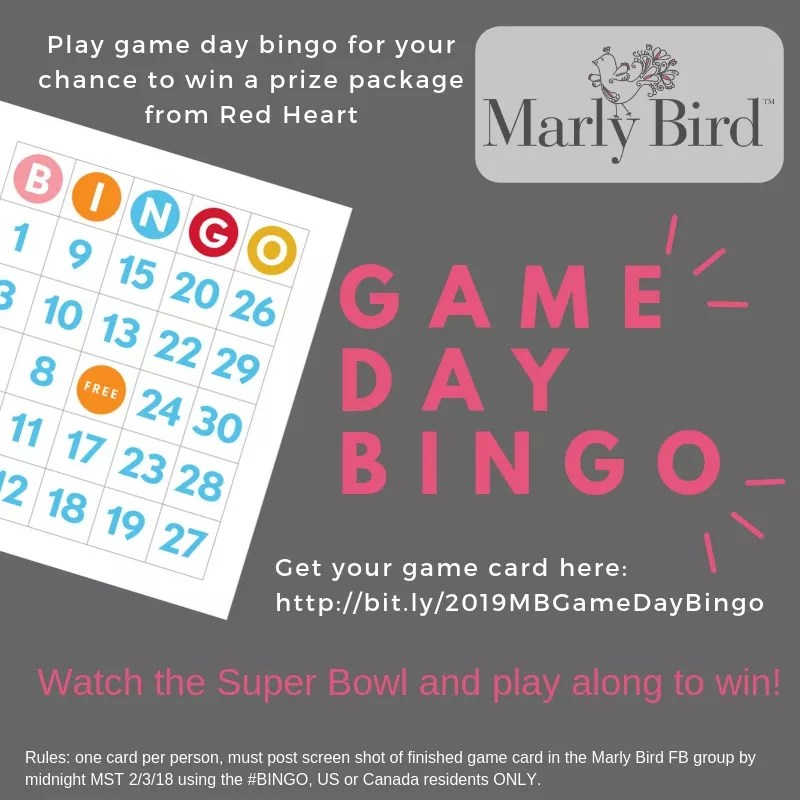 Knit Bingo-Crochet Bingo-Game Day Bingo