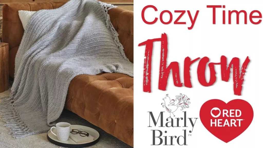 FREE Crochet Blanket for beginners-Cozy Time Throw-Video Tutorial