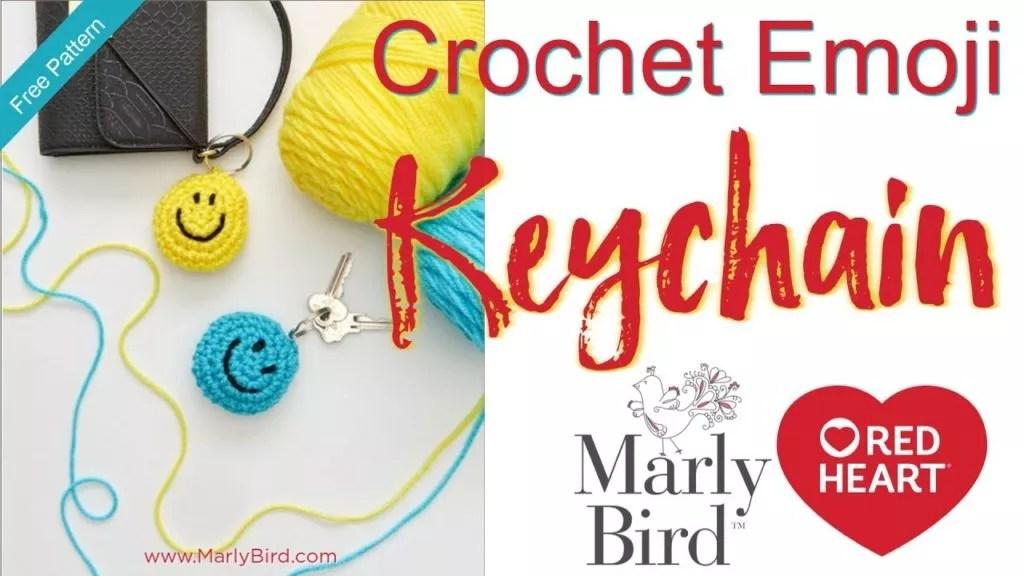 Video Tutorial-How to Crochet Emoji Keychain