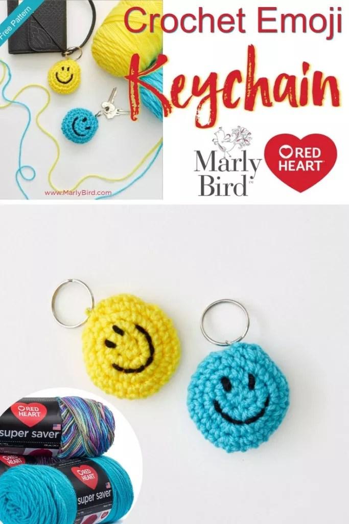 DIY Crochet Emoji Keychain with Video Tutorial