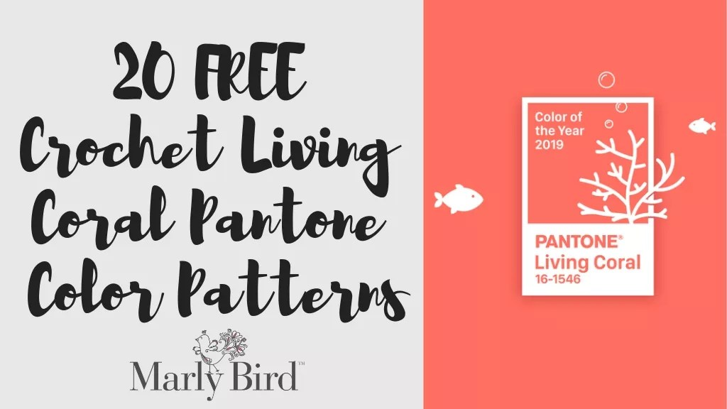 FREE Crochet Coral Patterns-Living Coral-Pantone Color of the year