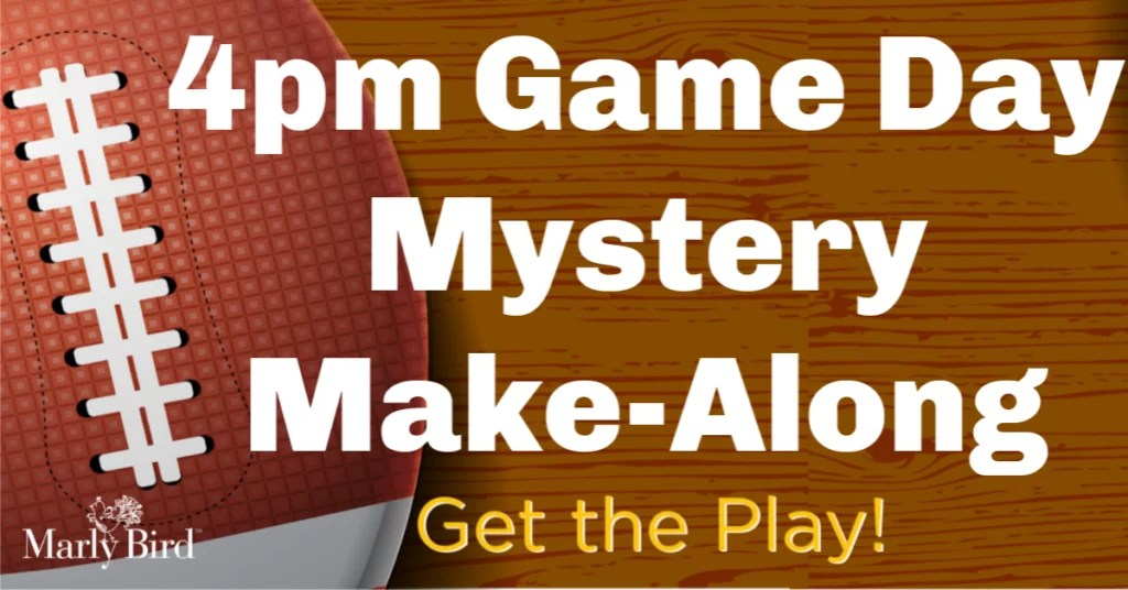 4pm Game Day Mystery Make-Along 2019
